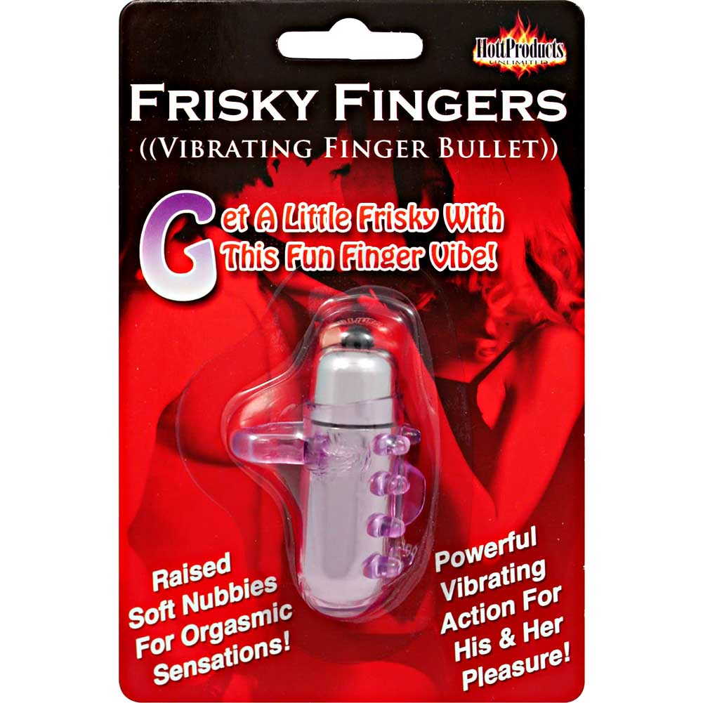 """Frisky Fingers Silicone Vibrating Bullet 2"""" Purple - View #4"""