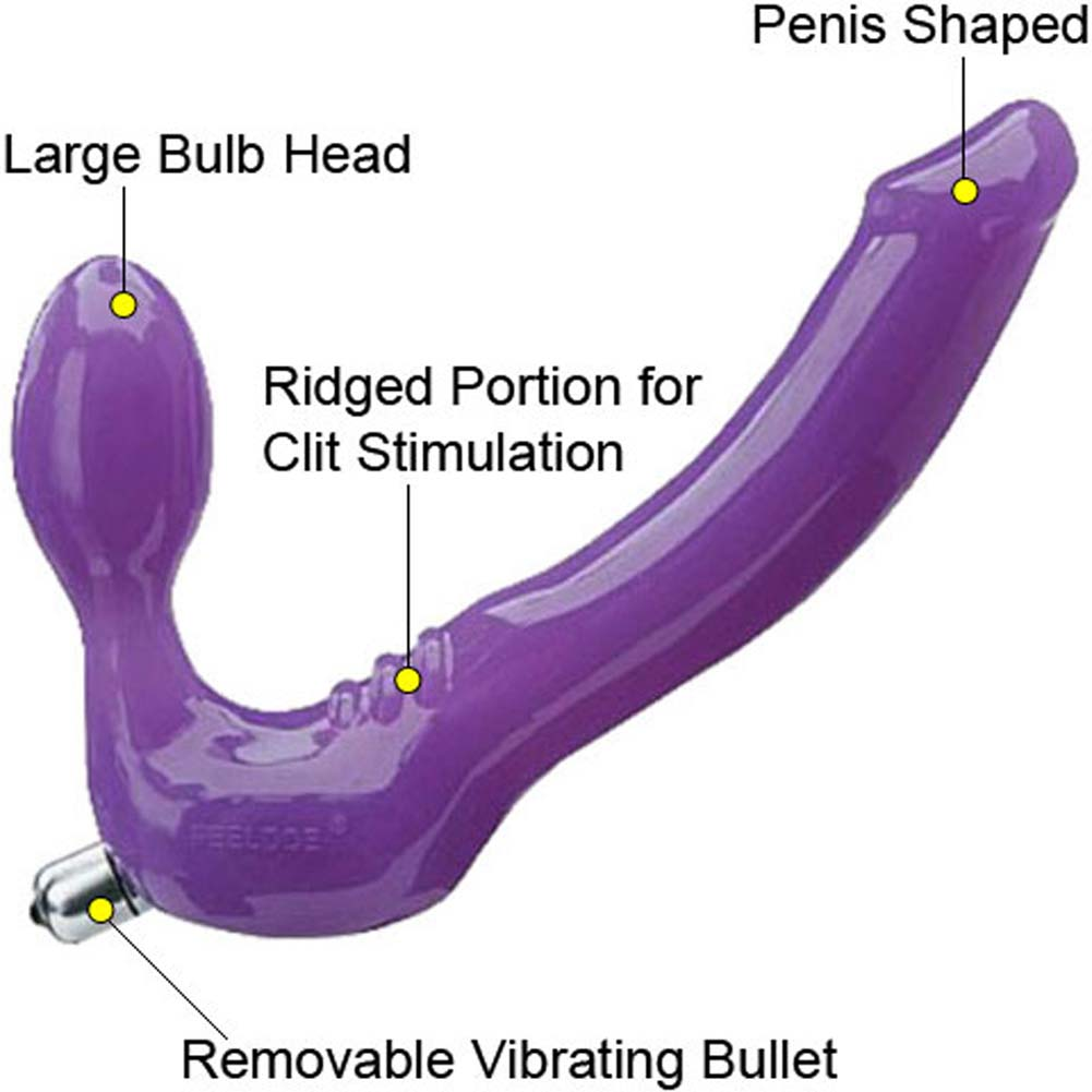 Tantus Feeldoe Strapless Strap On Silicone Dong 7 Purple View 1