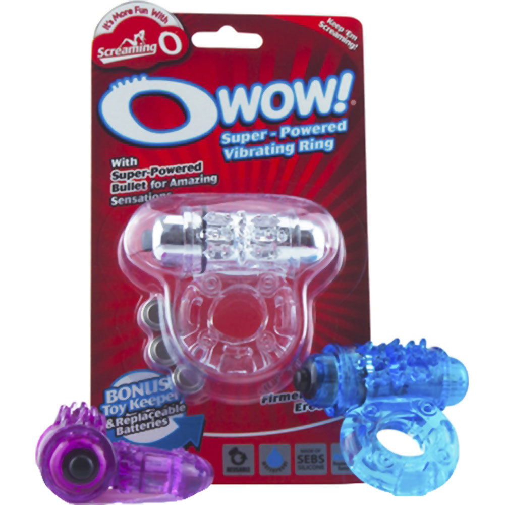 O Wow Waterproof Cordless Vibrating Cockring ASSORTED COLORS - View #4