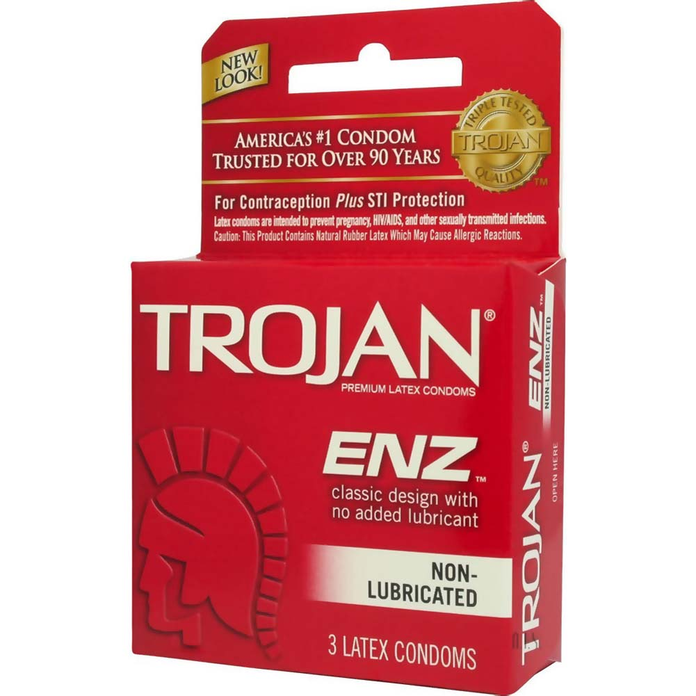 Trojan Enz Non Lubricated Premium Latex Condoms 3 Pack - View #2