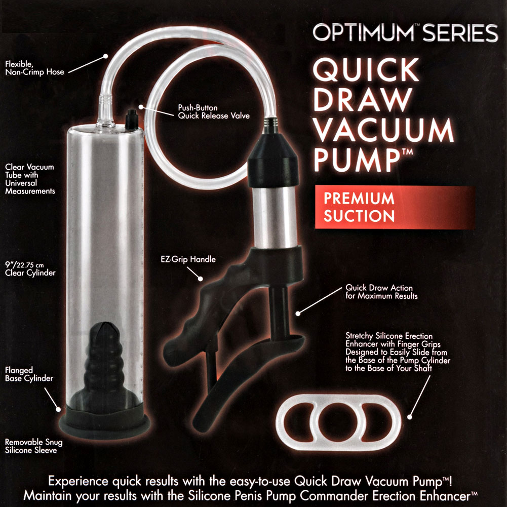 """Optimum Series Quick Draw Vacuum Pump 9"""" by 2"""" Clear - View #1"""