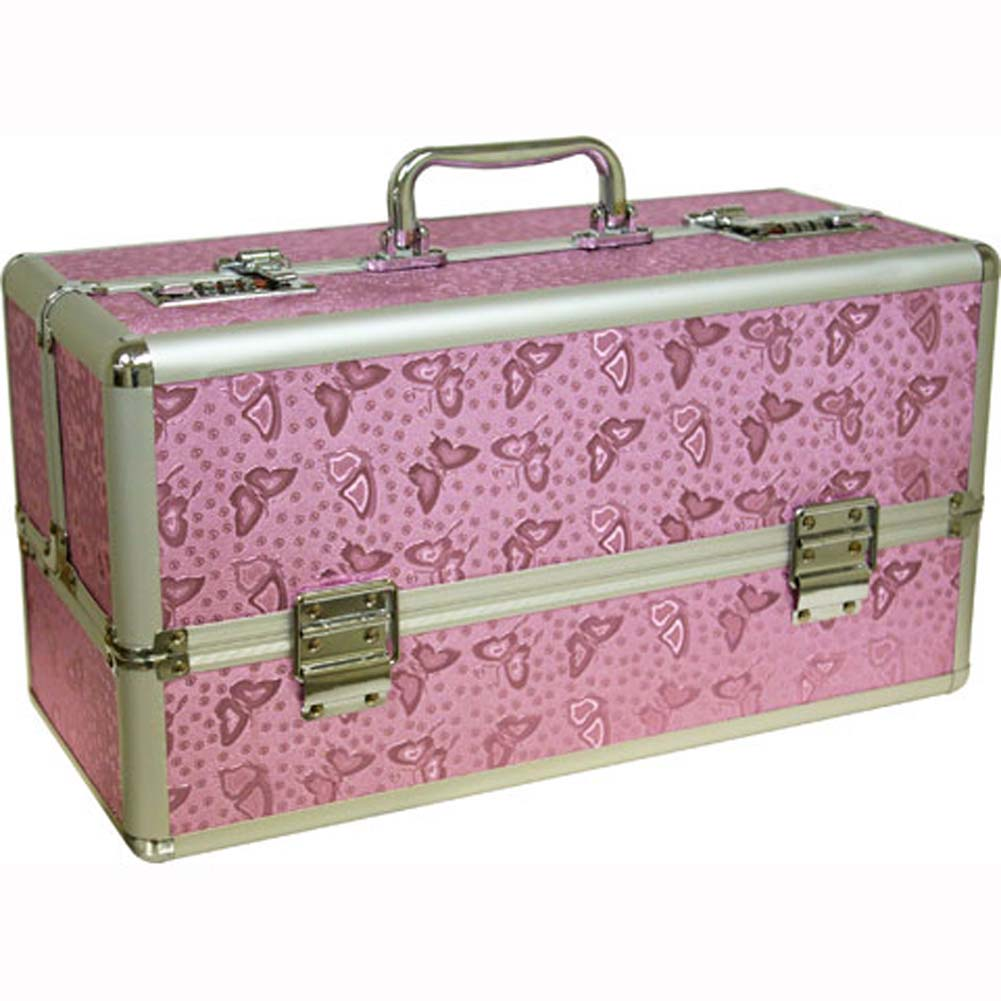 """Lockable Toy Chest Large 15"""" Pink - View #2"""