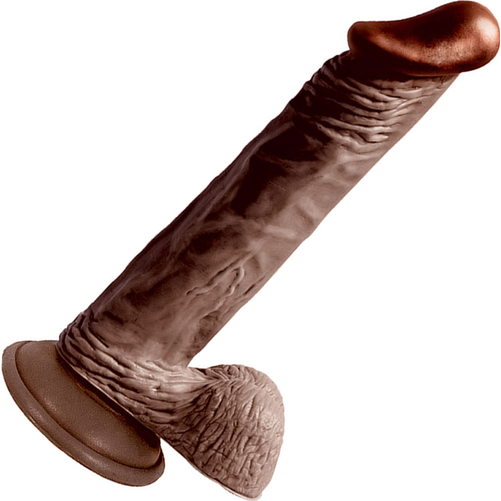 "Nasstoys LifeLikes Black Knight Cock with Suction Cup 8.5"" Ebony - View #2"