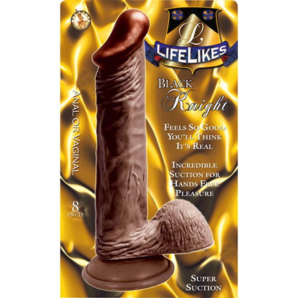 "Nasstoys LifeLikes Black Knight Cock with Suction Cup 8.5"" Ebony - View #3"