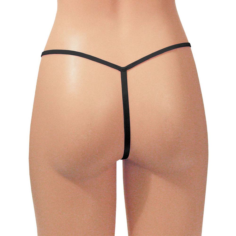 Dear Lady Collection G-String Panty One Size Kinky Black - View #1