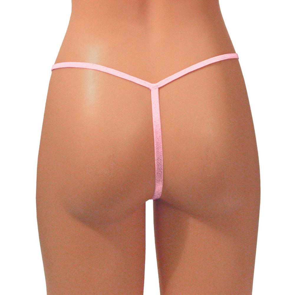 Dear Lady Collection G-String Panty One Size Light Pink - View #2