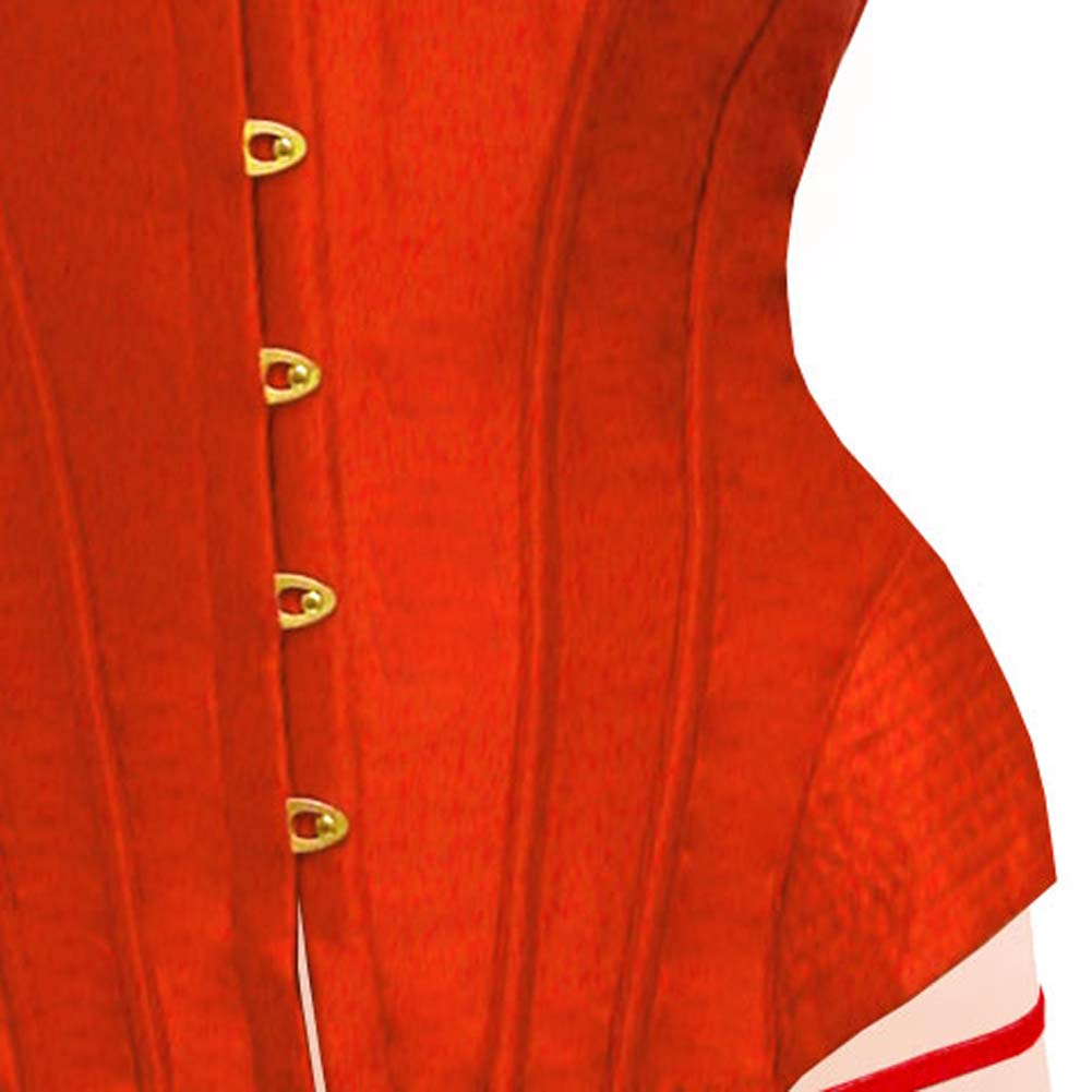 Dear Lady Clubwear Lace Up Back Strapless Corset and G-String Set Size 36 Hot Red - View #3