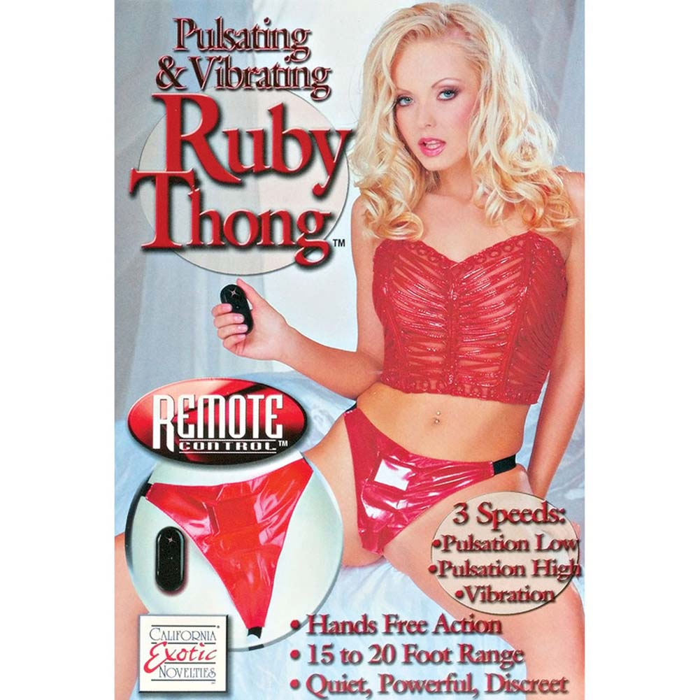 Pulsating and Vibrating Ruby Panty with Remote Control - View #4