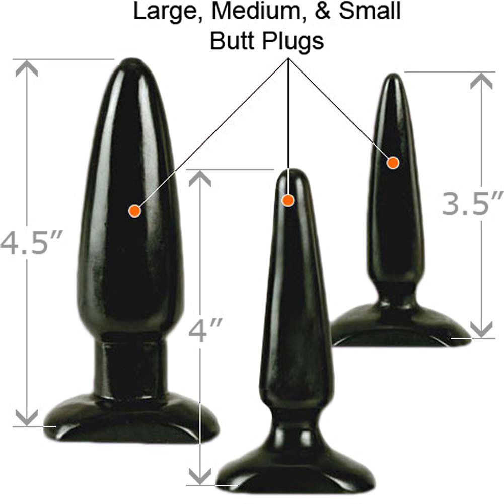 COLT Anal Trainer Kit with 3 Butt Plugs by California Exotics Black - View #1