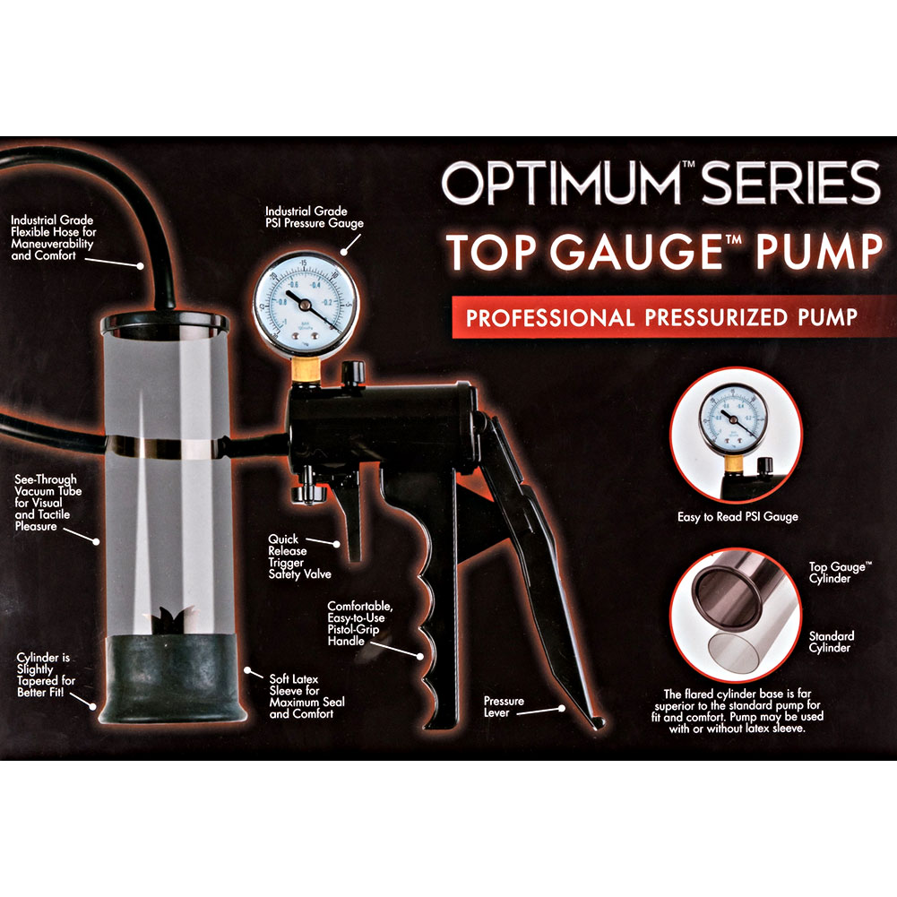 "Top Gauge Professional Pressurized Pump 7"" by 2"" Black - View #3"