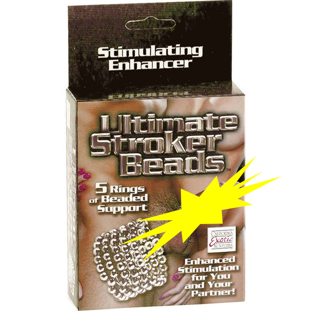 Ultimate Stroker Beaded Erection Support Rings Silver - View #4