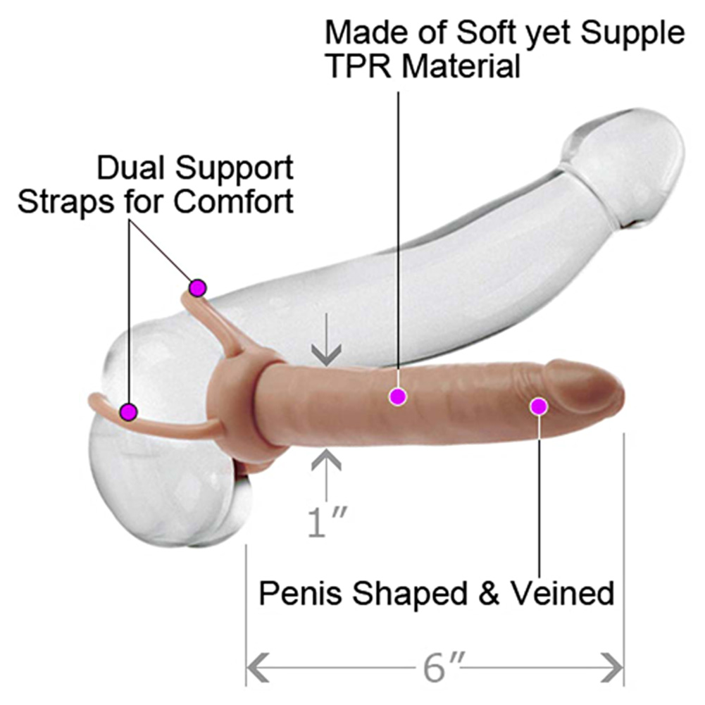 "Accommodator Dual Penetrator Toy for Lovers 6"" Flesh - View #1"