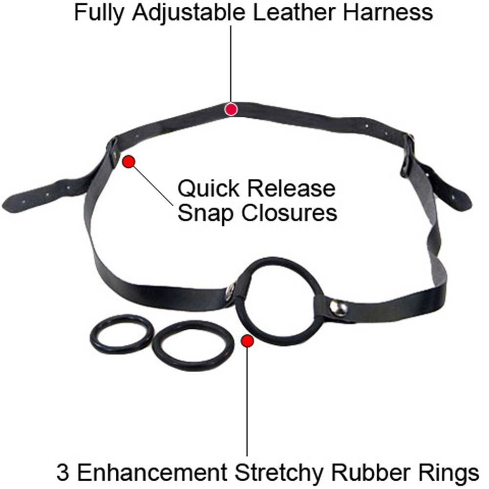 Strap-On Cock Ring Set Black. - View #1