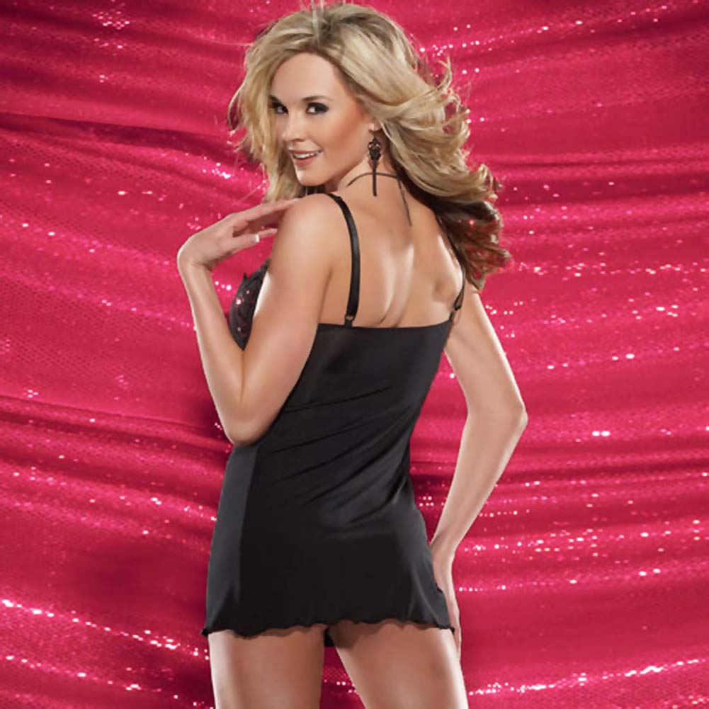 Microfiber Chemise and G-String Set Small - View #2