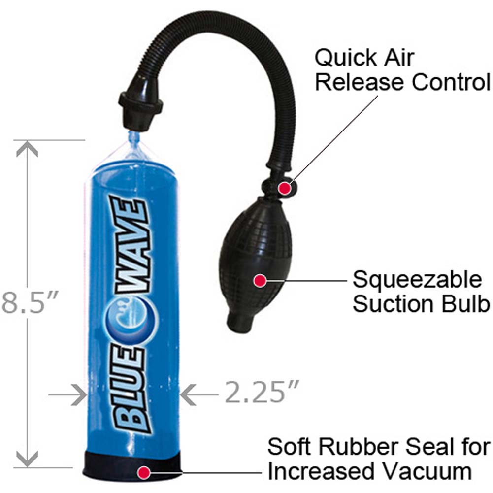 Big Blue Wave Manual Jack Penis Pump for Male Erection Boost - View #1