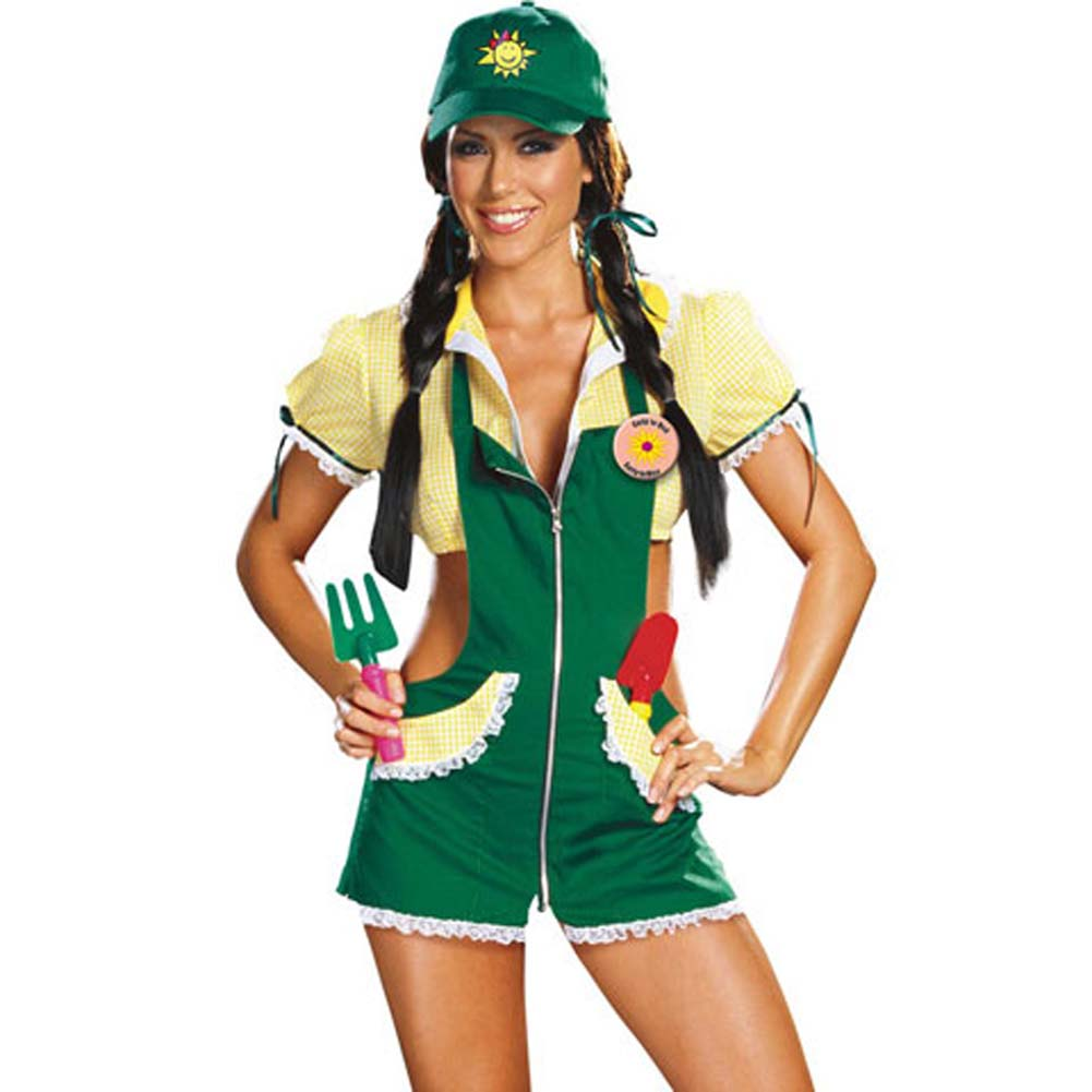 Dreamgirl Garden Ho Farm Girl Sexy Halloween Costume Large Green - View #1