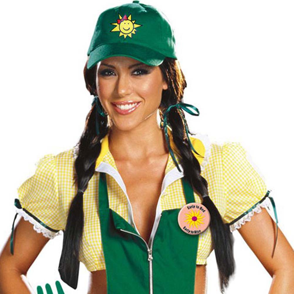 Dreamgirl Garden Ho Farm Girl Sexy Halloween Costume Large Green - View #2