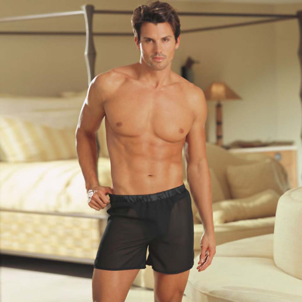 Cheek Thrill Boxer with Removable Back Pockets Black L/XL - View #2