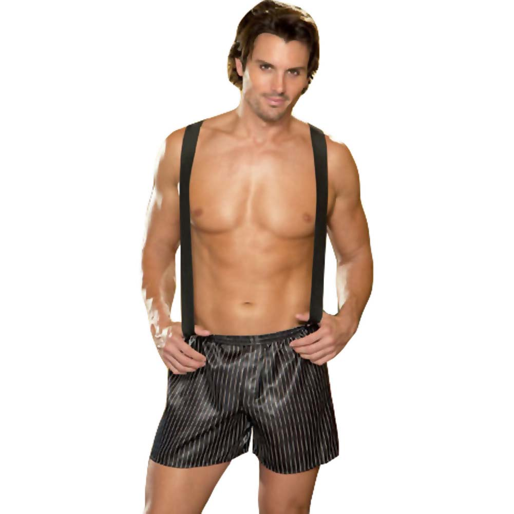 Dirty Business Boxer with Removable Suspenders Large/XLarge Black - View #1