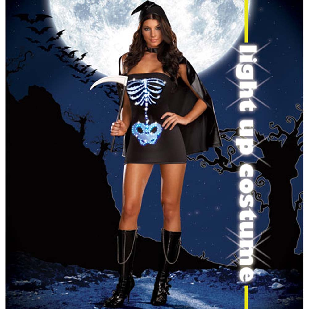 Dreamgirl Lingerie LIGHT UP Maya Remains Halloween Costume Small Black - View #2