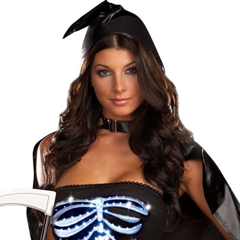 Dreamgirl Lingerie LIGHT UP Maya Remains Halloween Costume Small Black - View #3