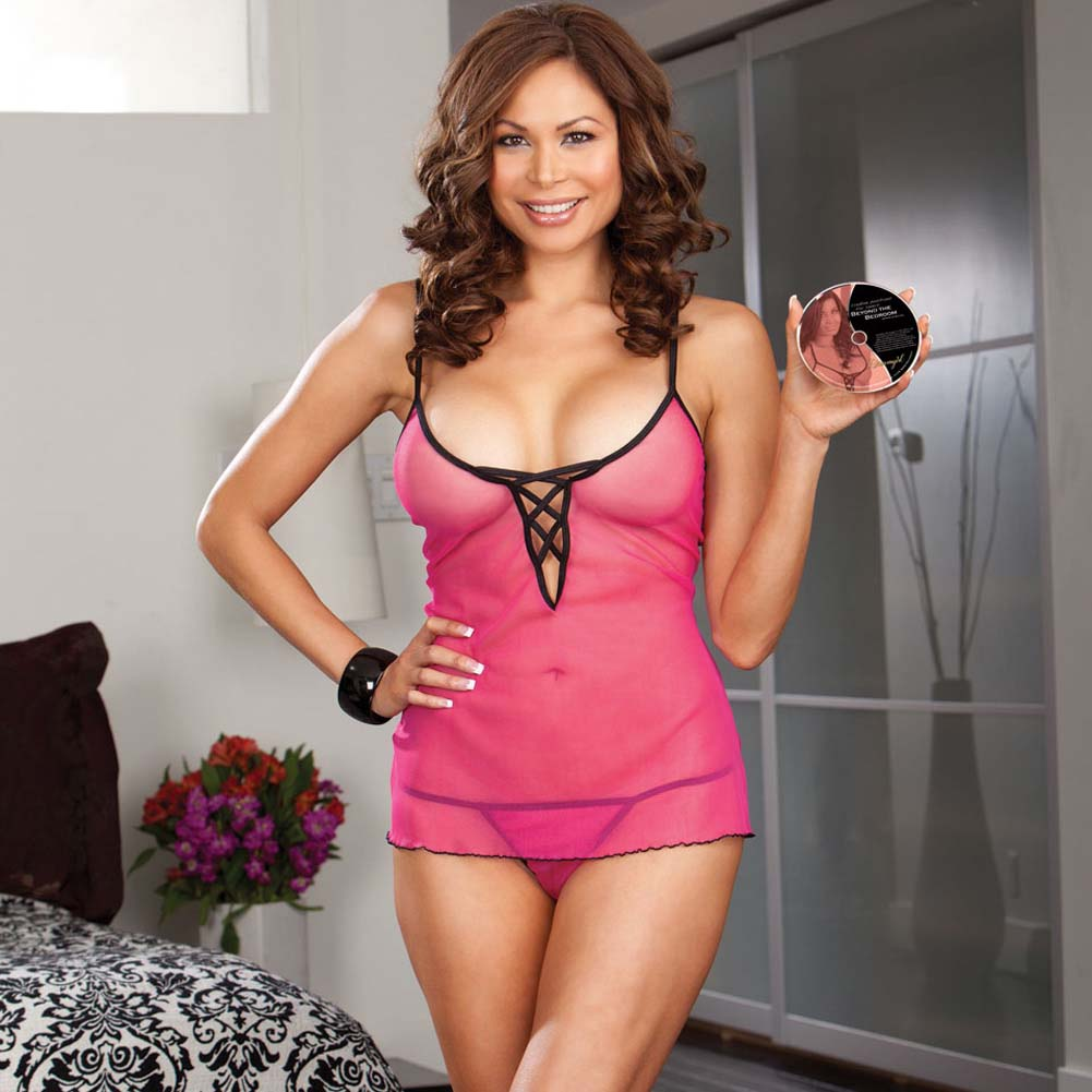 Beyond The Bedroom DVD and Pink Laced Babydoll Set Plus Size Pink - View #3