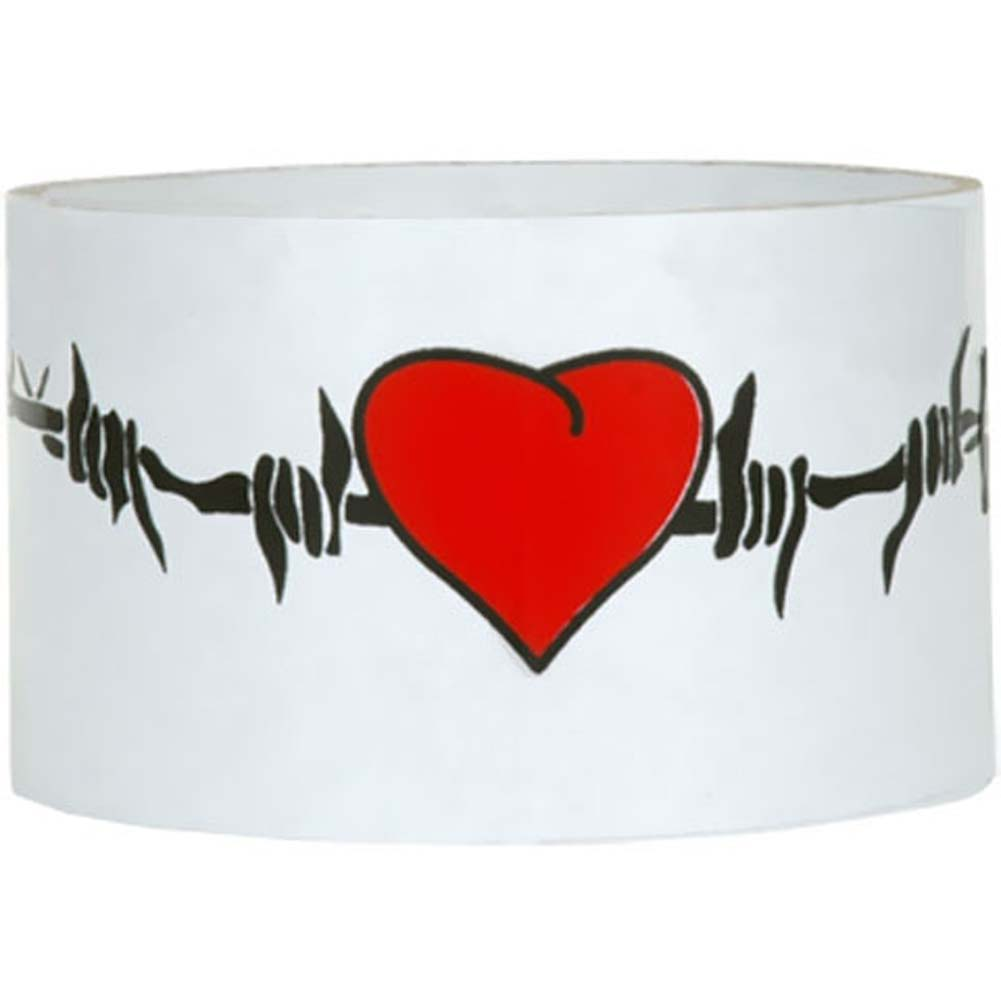 Reusable Designer Bondage Tape with Barbed Wire Hearts 30 Feet - View #1