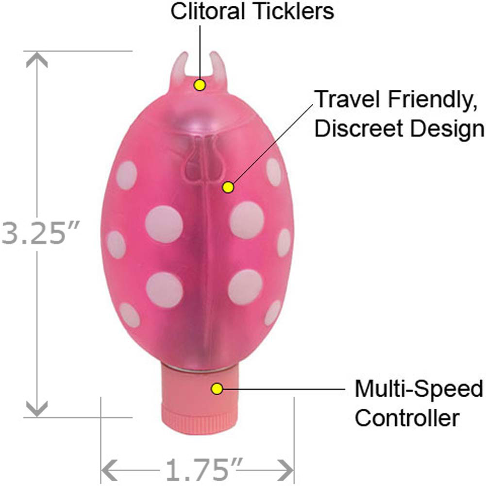 "Lady Bug Waterproof Clitoral Vibe 3.25"" Pink - View #1"