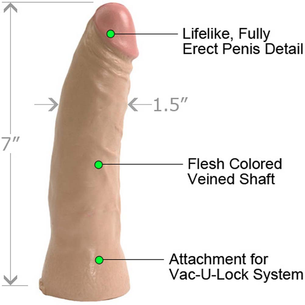 "Vac-U-Lock Thin Realistic Dong 7"" Flesh - View #1"