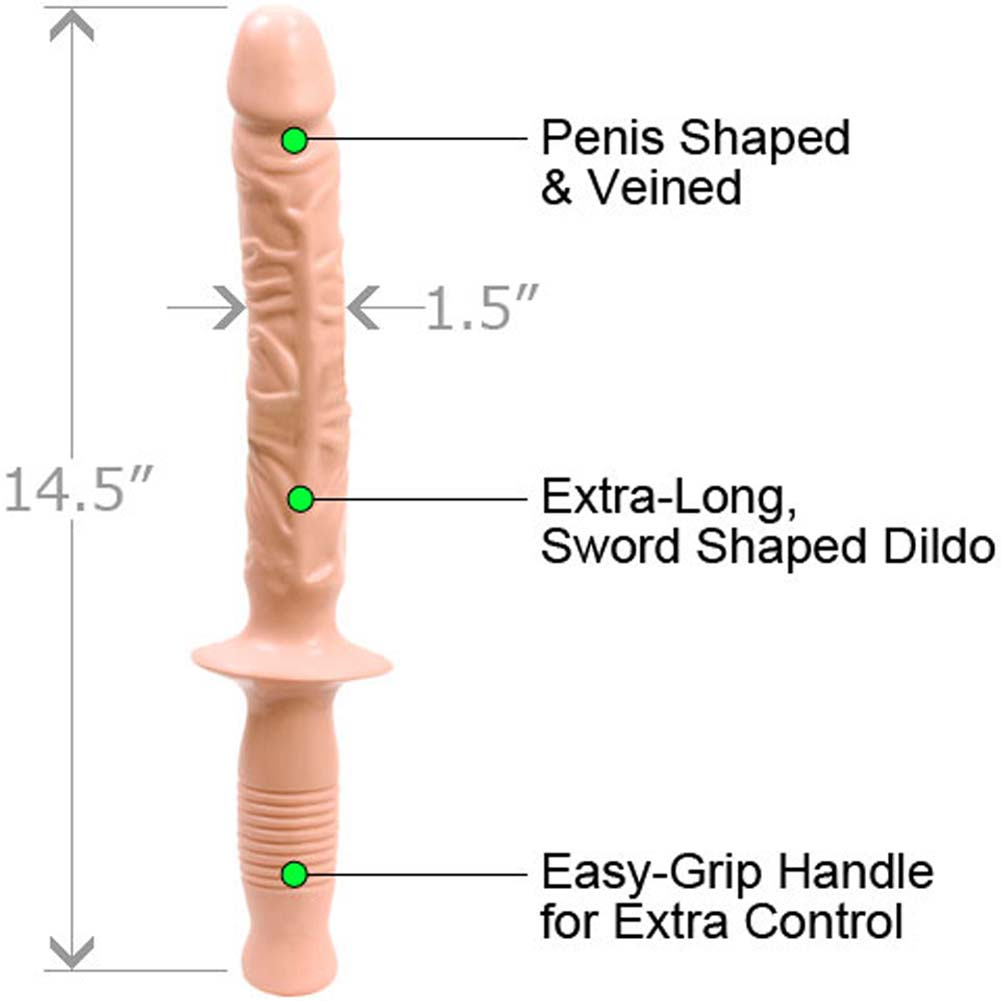 "Doc Johnson Classic Manhandler Dildo 14.5"" Beige - View #1"