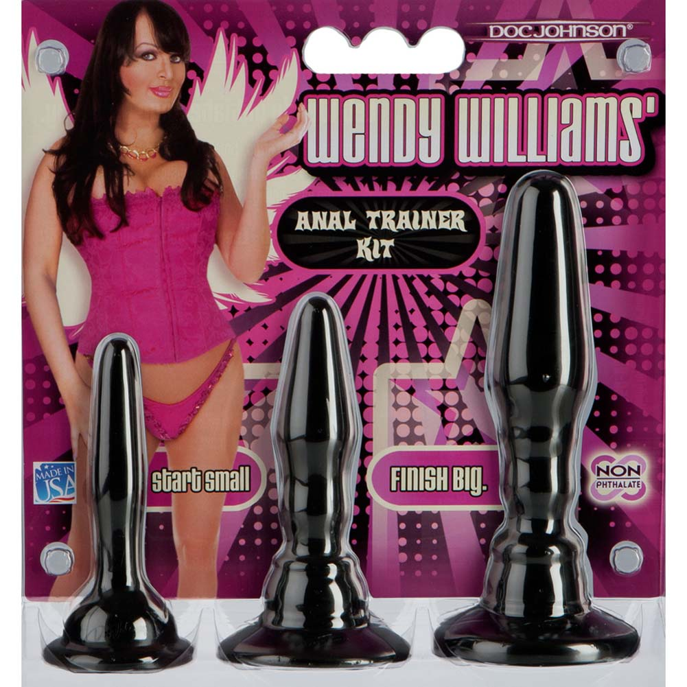 "Wendy Williams Anal Trainer Kit with 3 Butt Plugs 7"" Black - View #3"