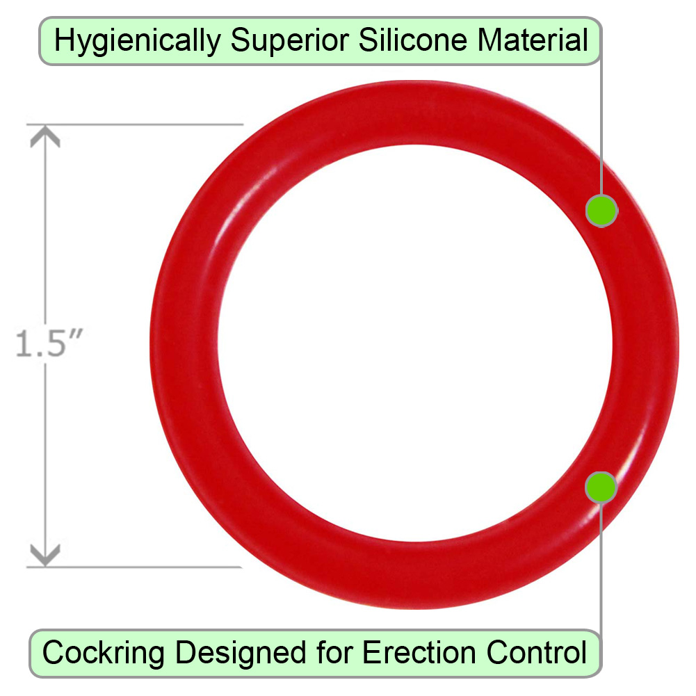 OptiSex Silicone Erection Control Ring Medium ASSORTED COLOR - View #1