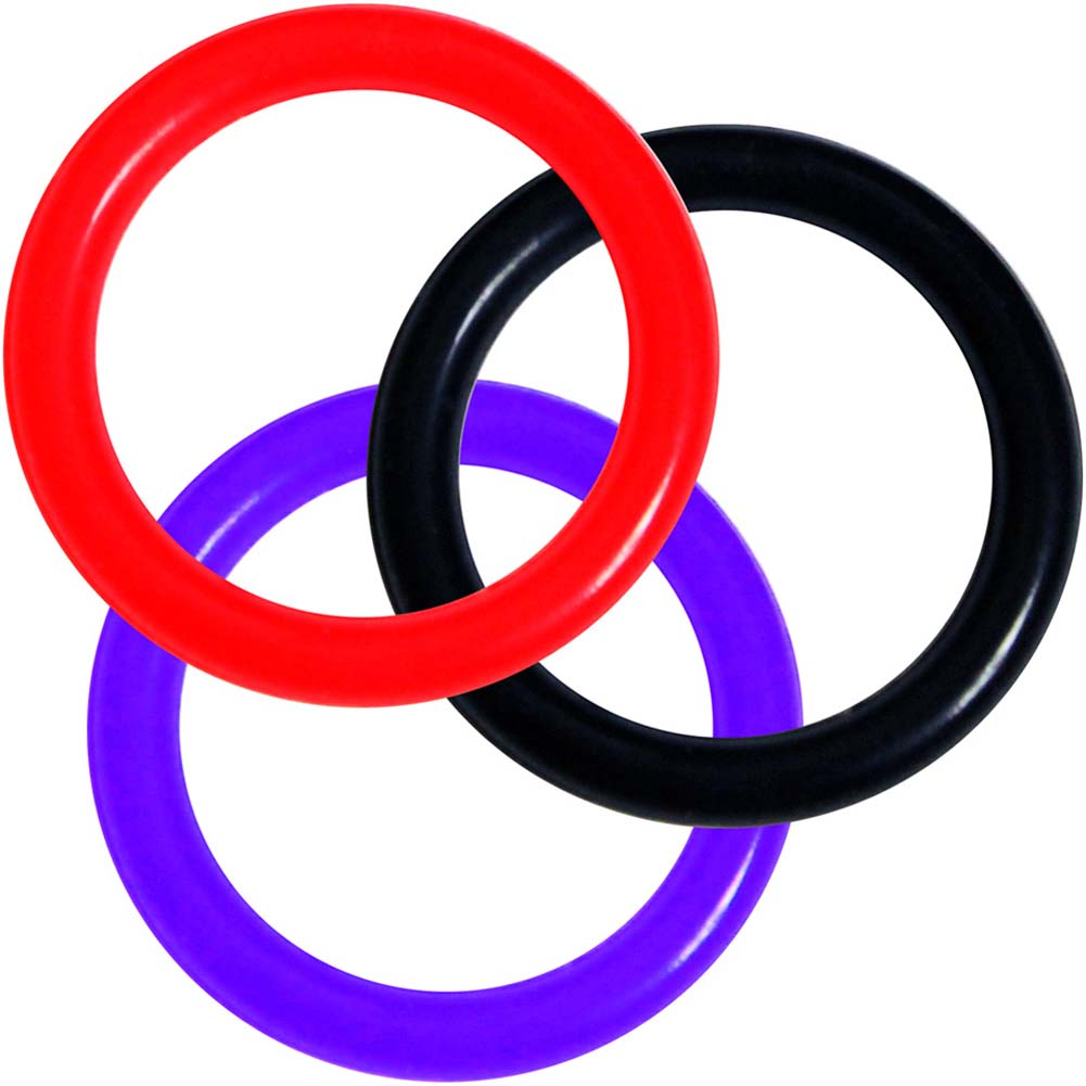 OptiSex Silicone Erection Control Ring Medium ASSORTED COLOR - View #2