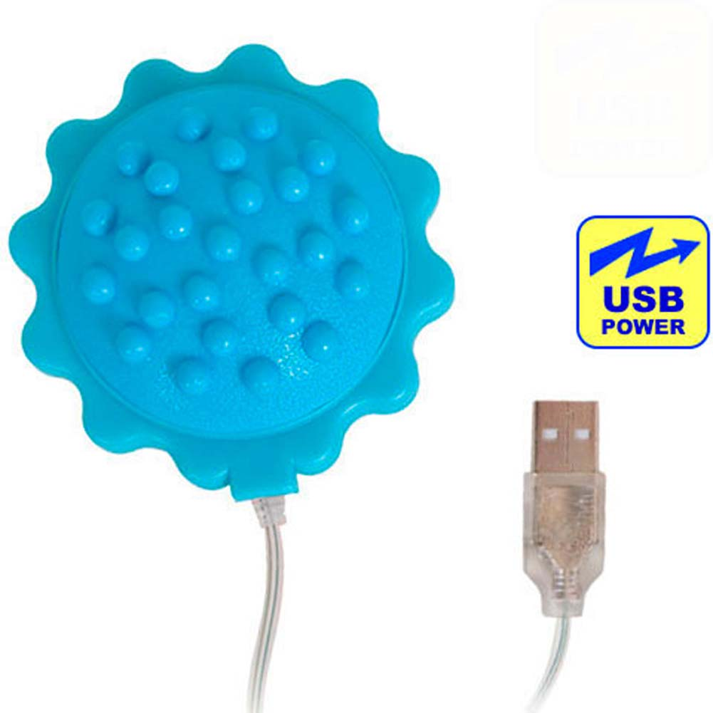 """OptiSex Love Flower USB Powered Personal Vibe 2.75"""" Blue - View #2"""