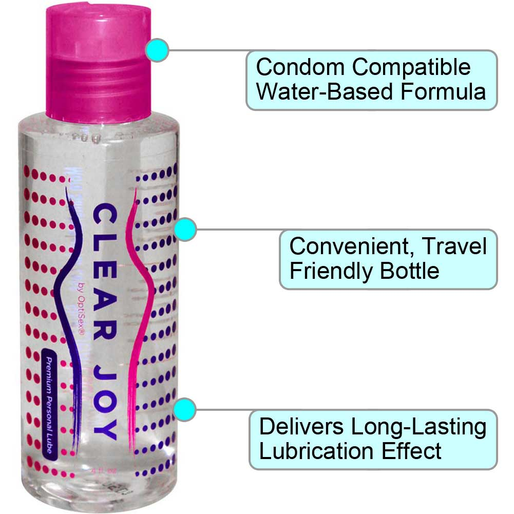 Clear Joy Premium Personal Lubricant for Men and Women 4 Fl.Oz 120 mL - View #1