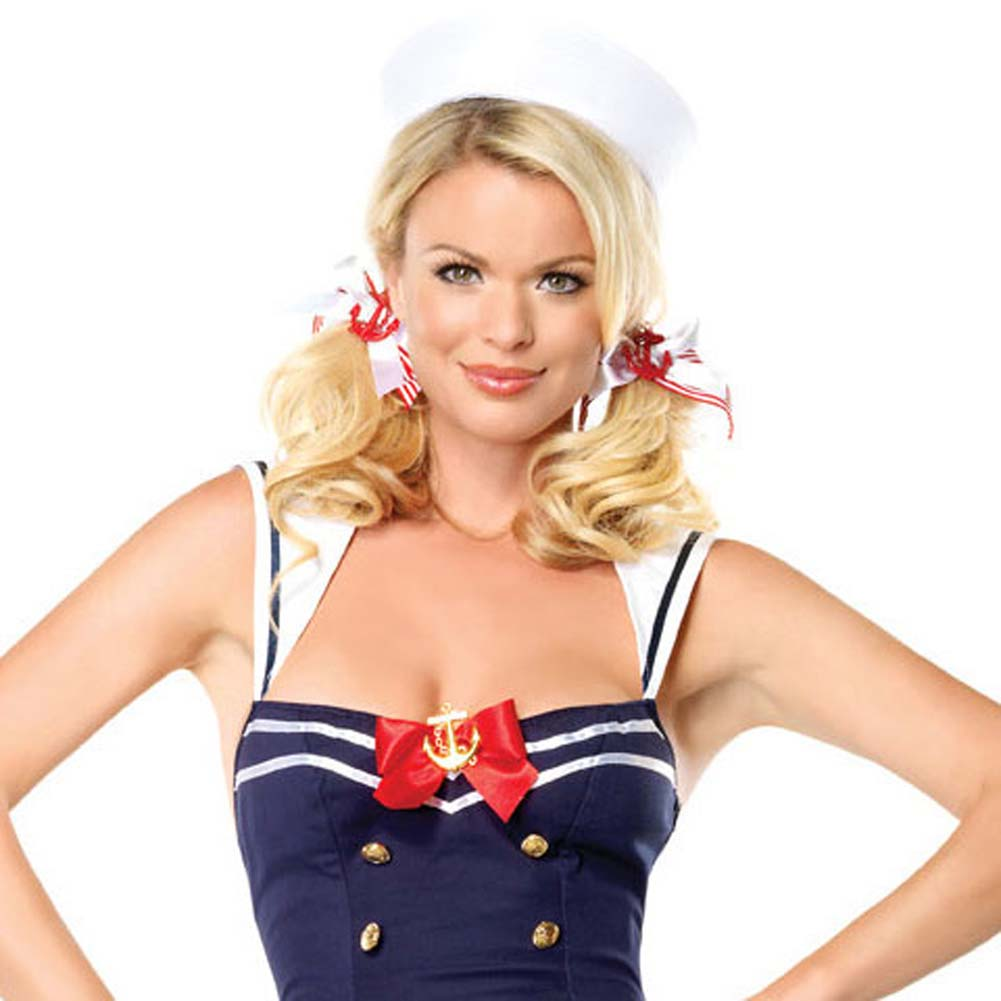 Flirty First Mate Costume by Leg Avenue Small Navy - View #3