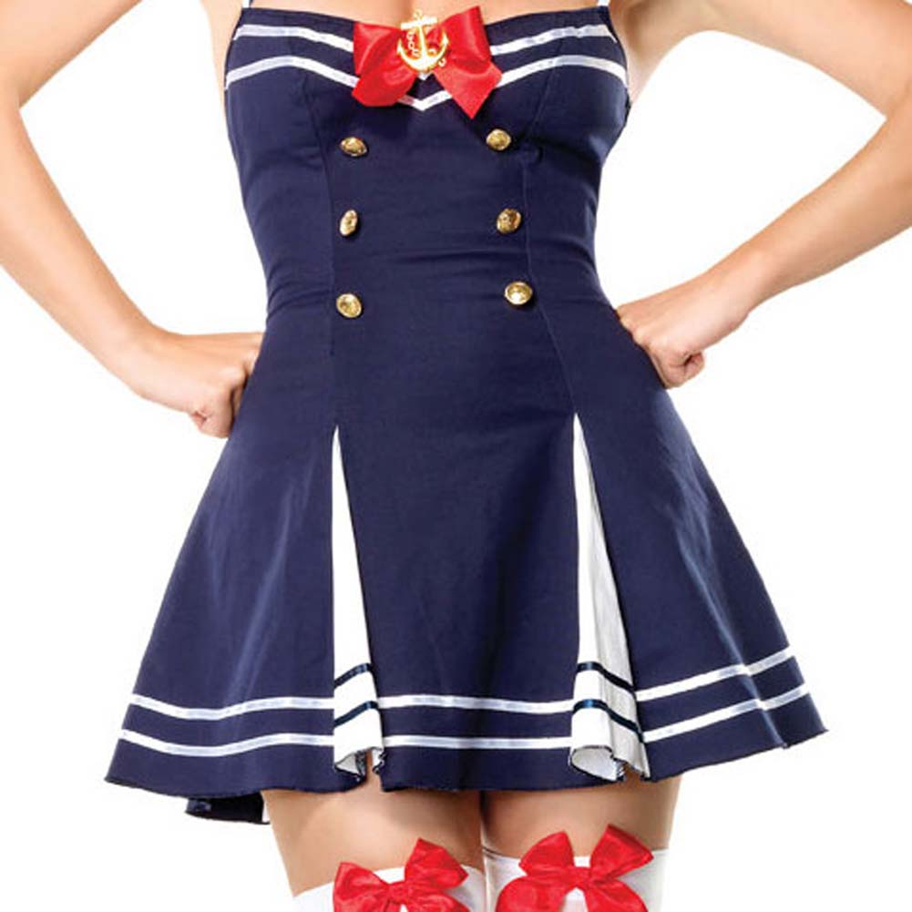 Flirty First Mate Costume by Leg Avenue Small Navy - View #4