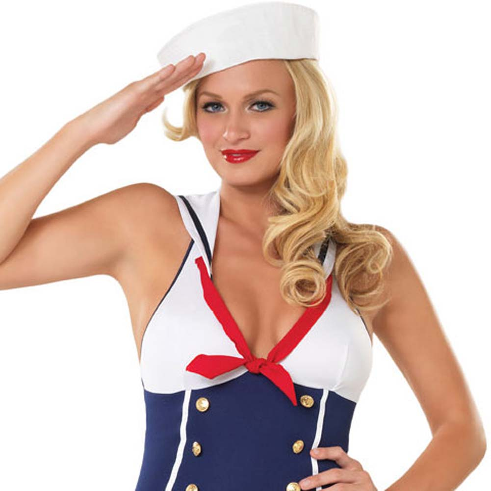 Ahoy There Hottie Costume by Leg Avenue Extra Large Navy - View #3