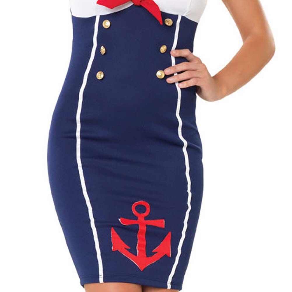 Ahoy There Hottie Costume by Leg Avenue Extra Large Navy - View #4