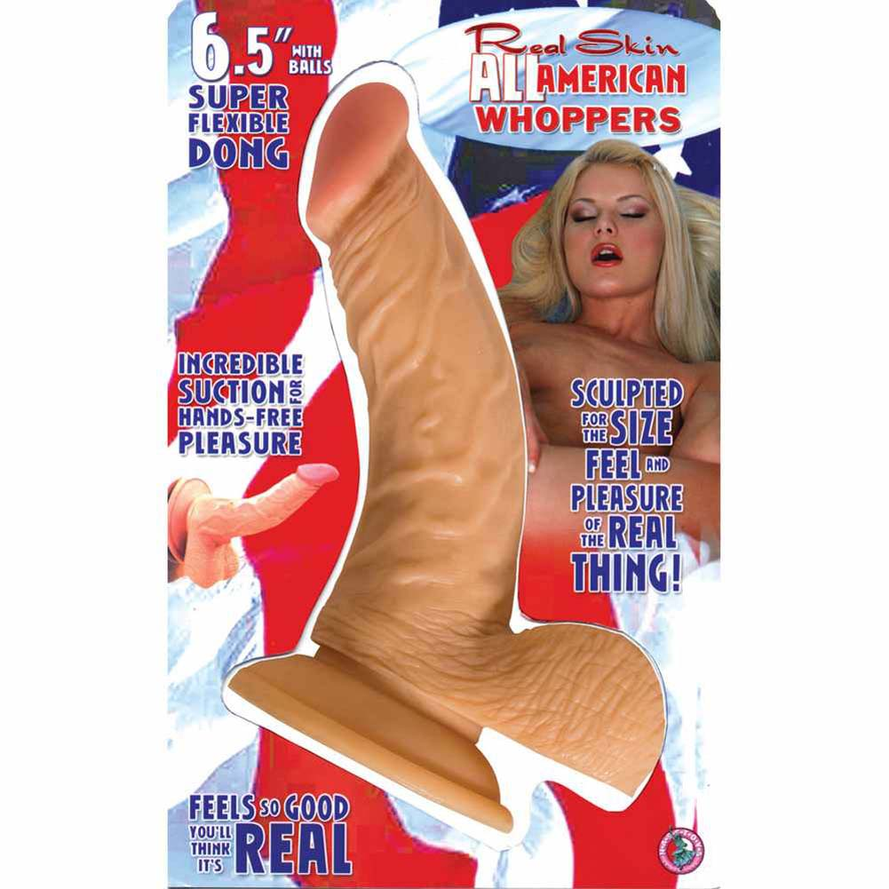 "RealSkin All American Whoppers Flexible Ballsy Dong 6.5"" Flesh - View #3"