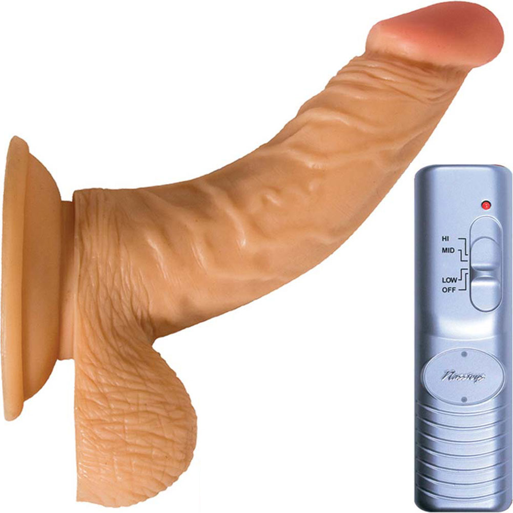 "RealSkin All American Whoppers Flexible Ballsy Vibrator 7"" Natural Flesh - View #2"
