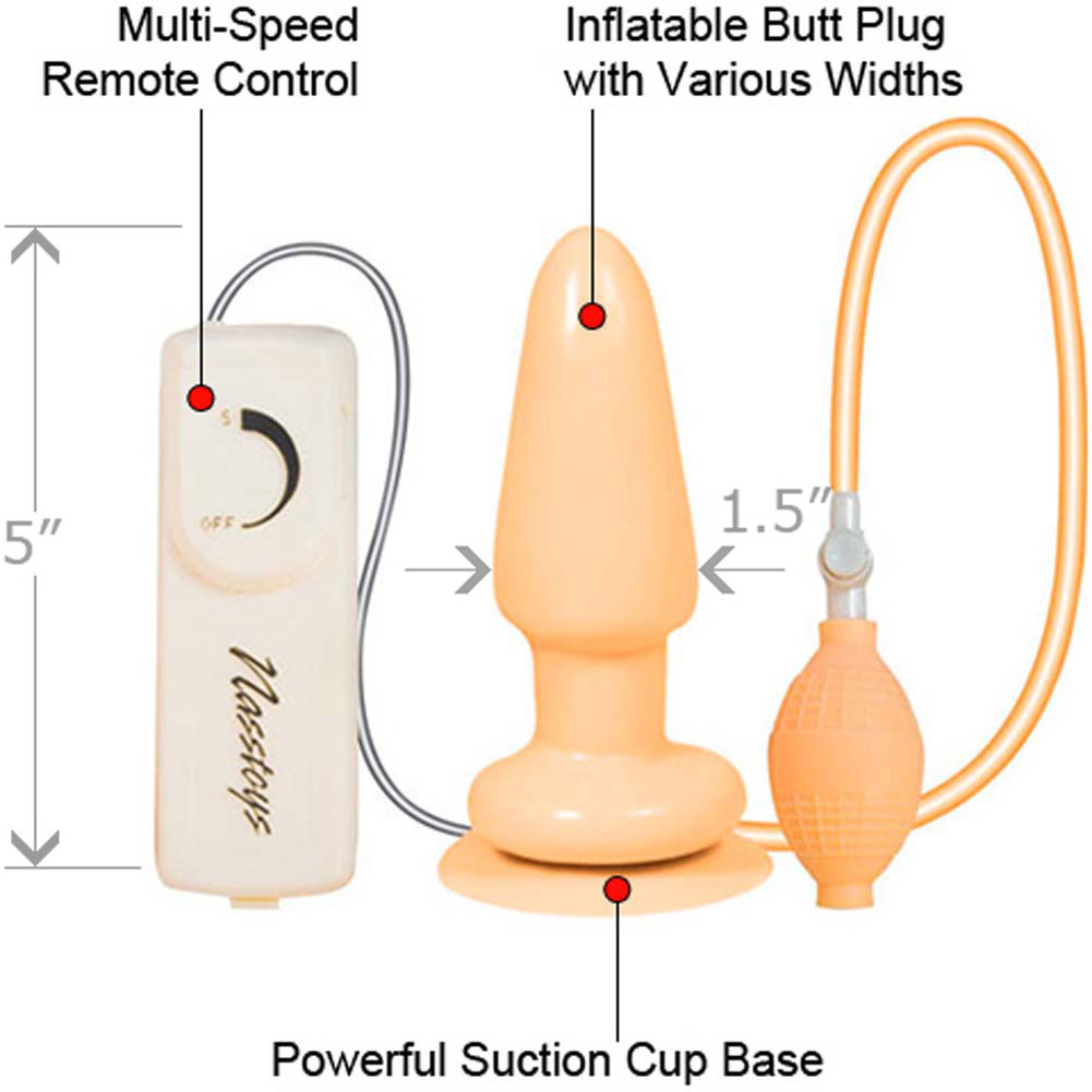 Butt Balloon Inflatable Vibrating Butt Plug - View #1