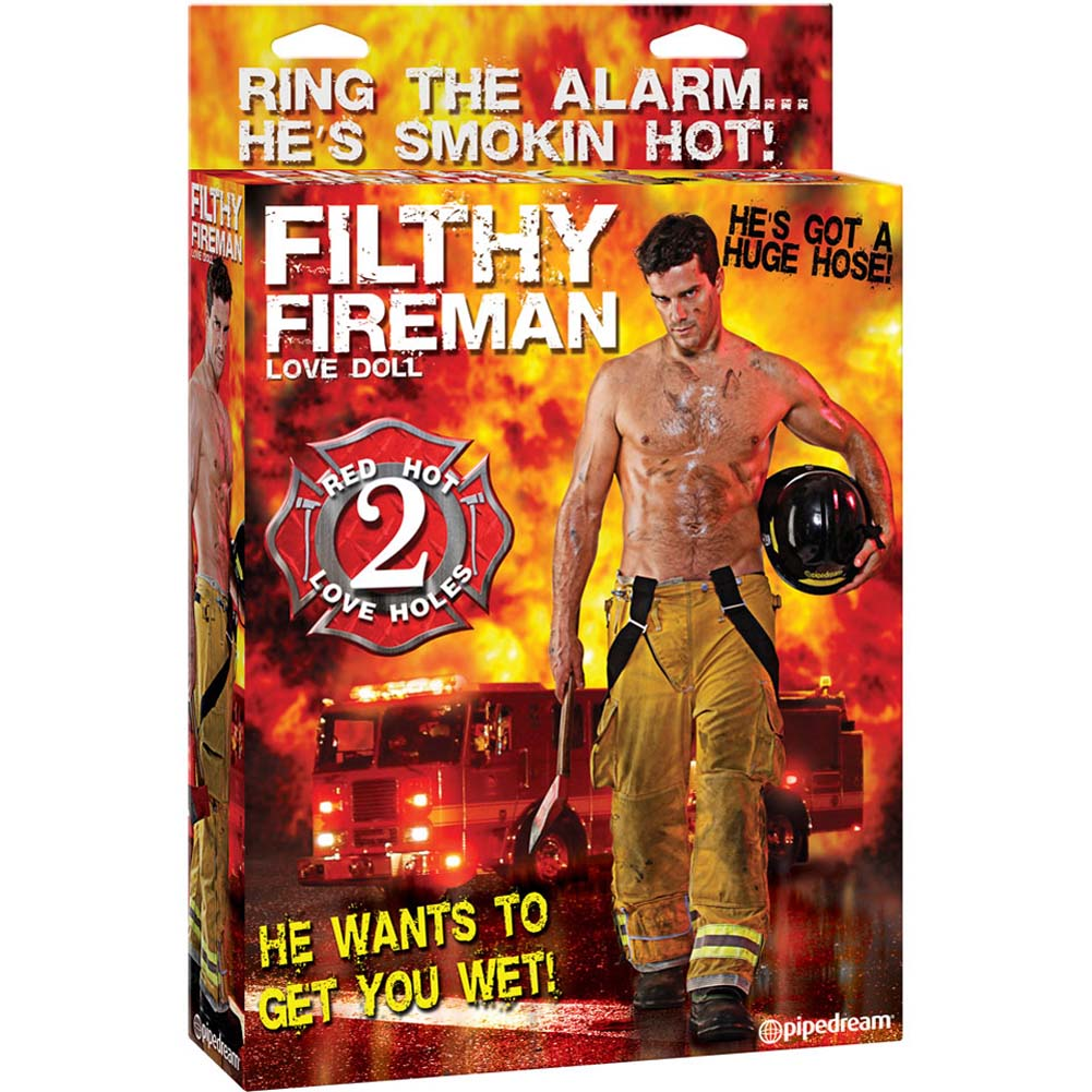 Filthy Fireman Inflatable Love Doll - View #4