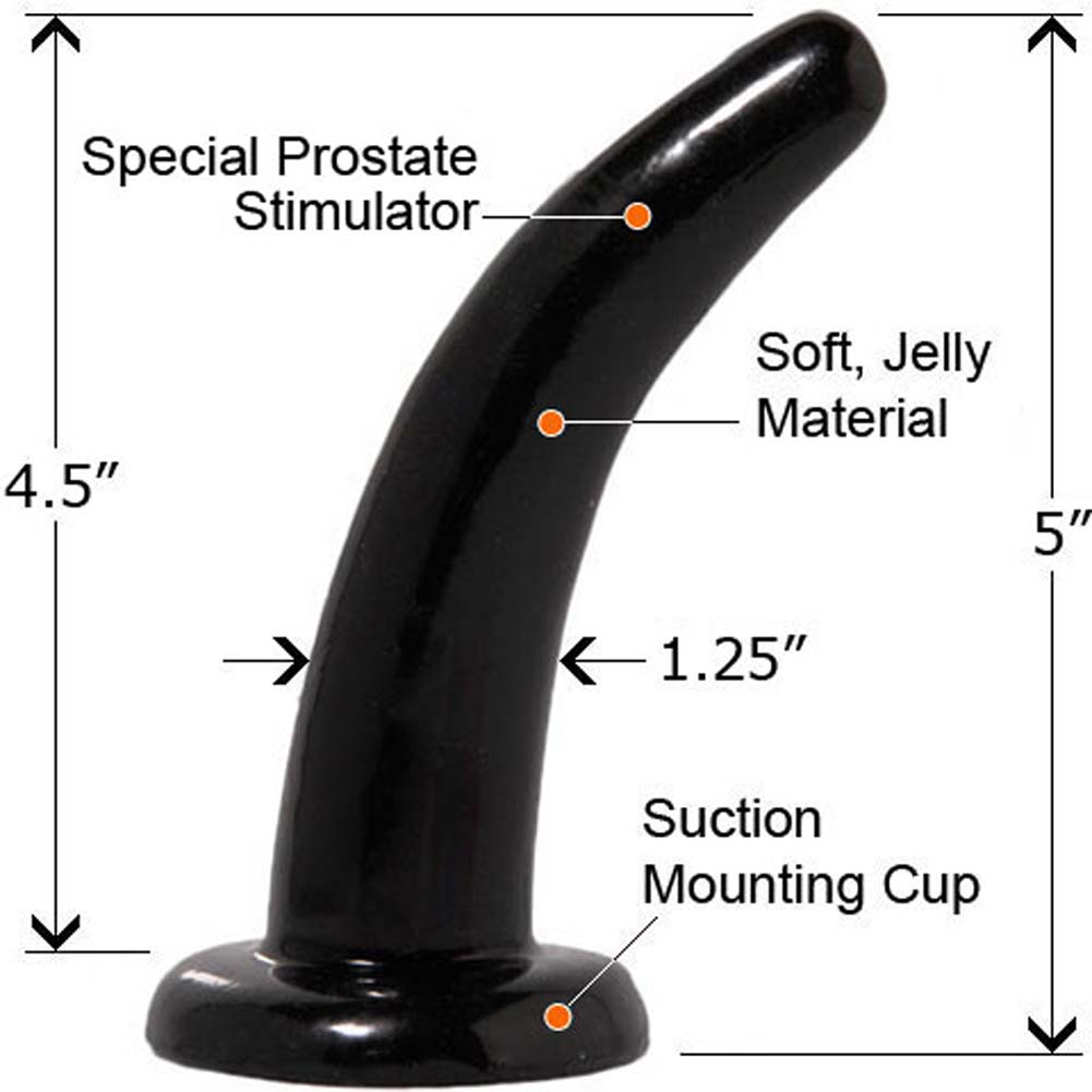 """Fetish Fantasy Limited Edition Pegger Strap-On Dong 5"""" Black - View #3"""