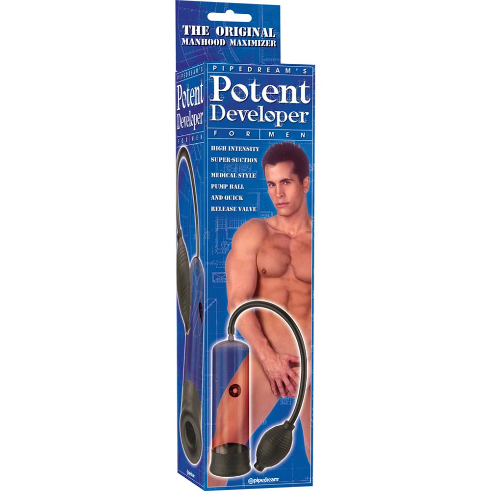 "Potent Developer Penis Pump for Men 7.5"" by 2.25"" Black - View #3"