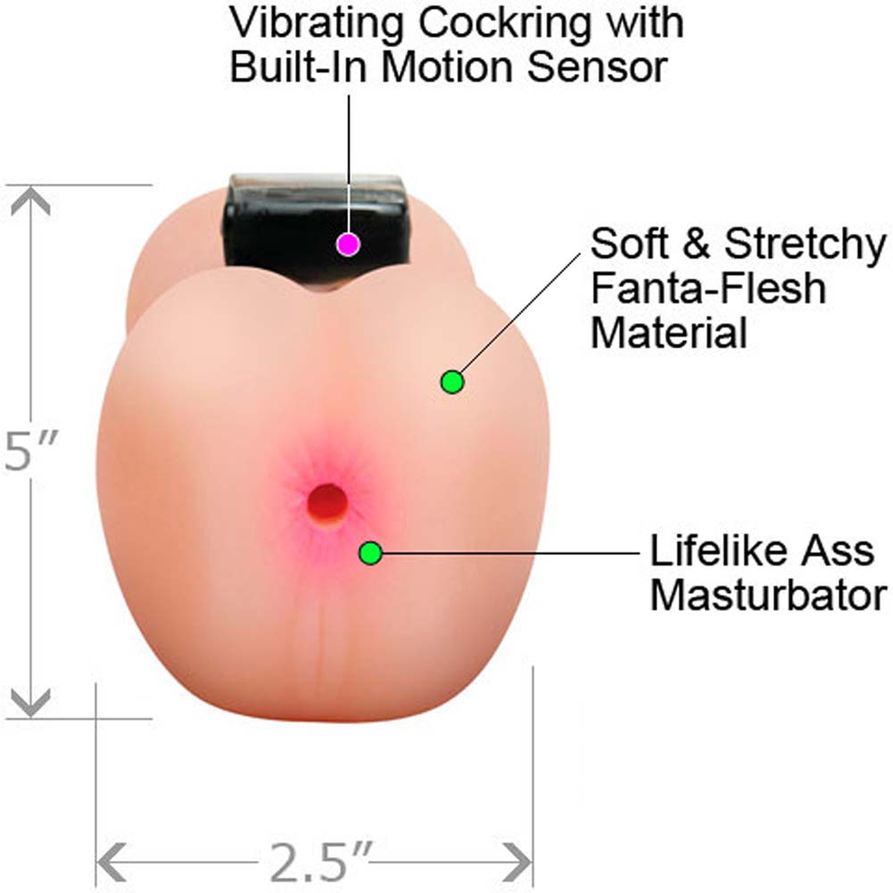 Pipedream Extreme Anal Cocktrainer System Vibrating Stroker - View #1