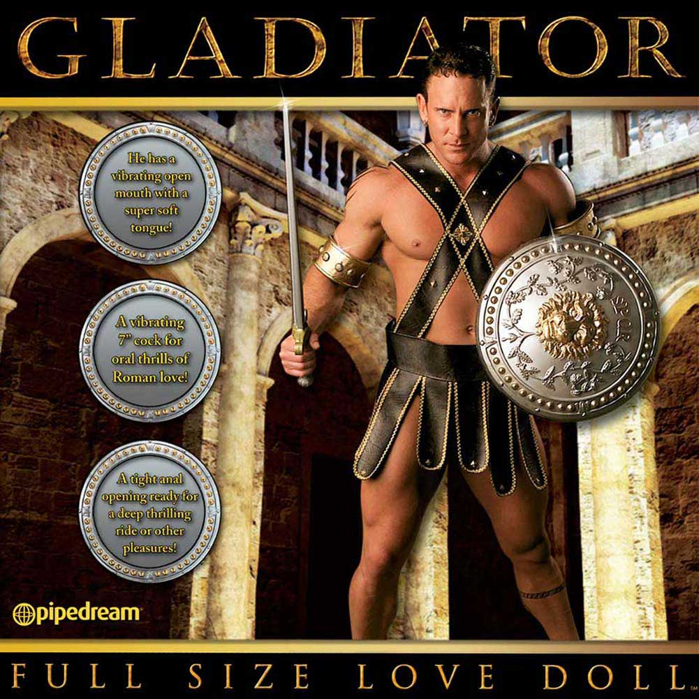 Full Size GLADIATOR Vibrating Inflatable Love Doll - View #2