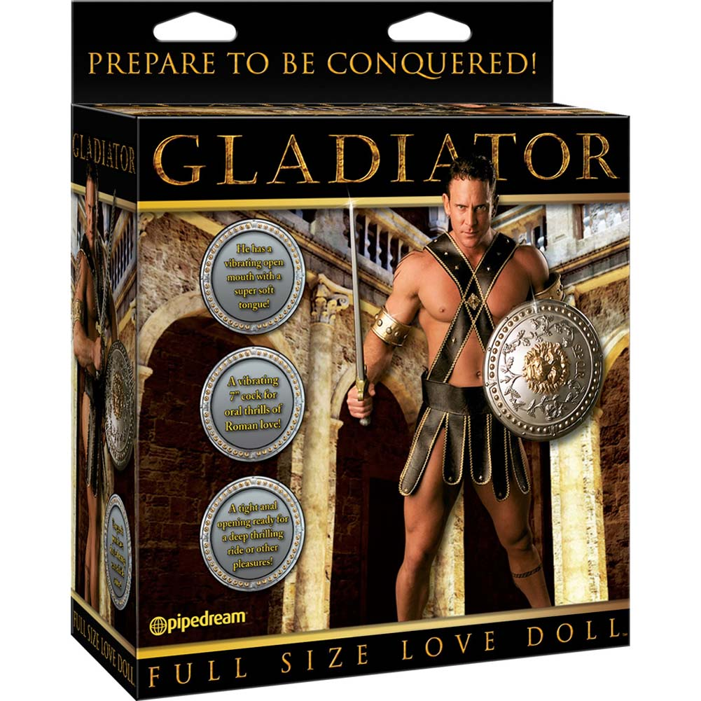 Full Size GLADIATOR Vibrating Inflatable Love Doll - View #3