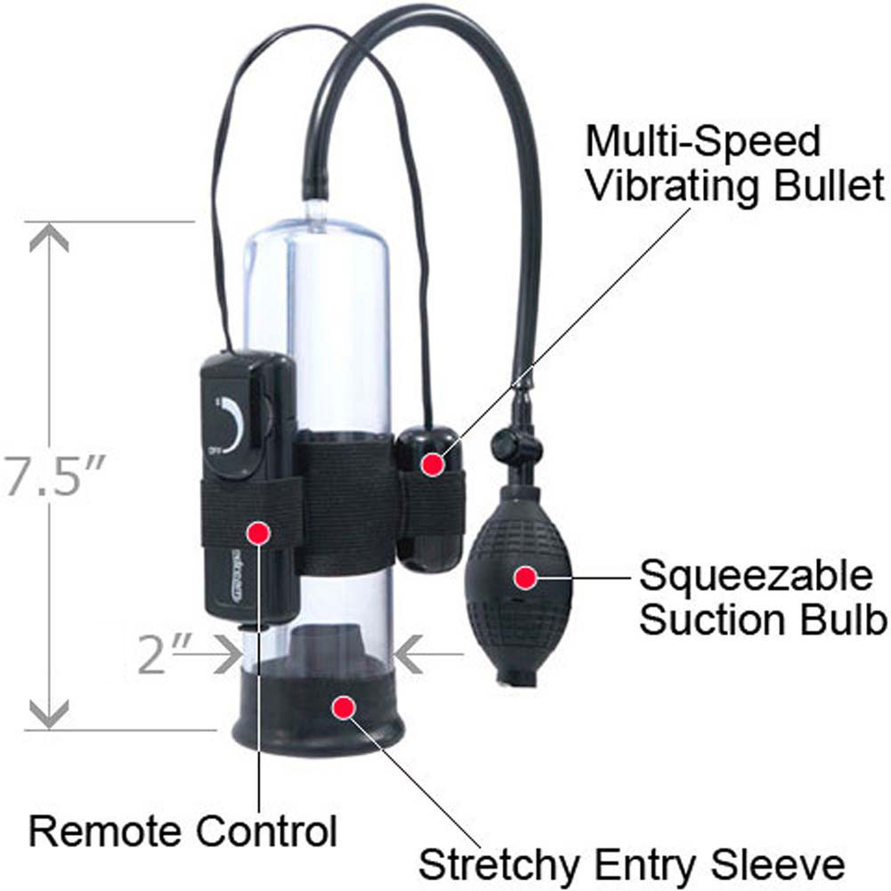 """Pump Worx Beginners Vibrating Pump 7.5"""" by 2"""" Clear/Black - View #1"""