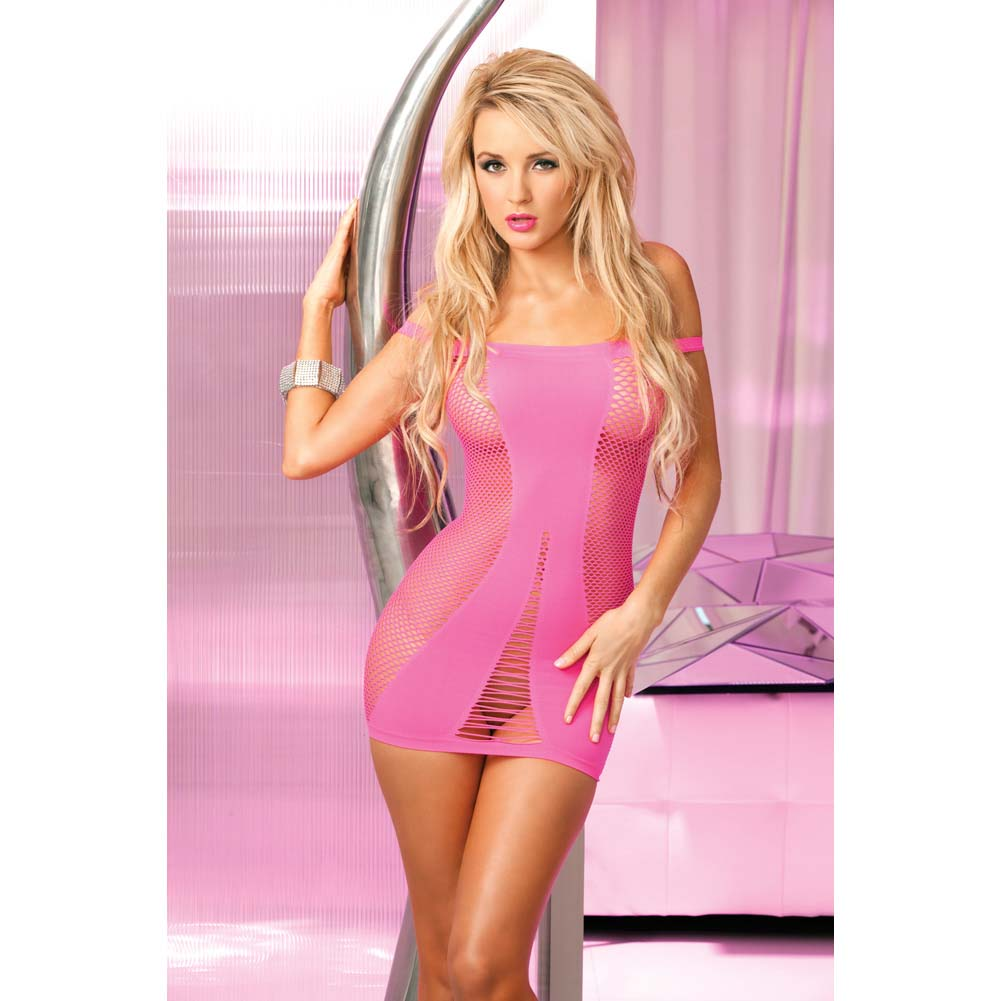 Pink Lipstick Amnesia Seamless Hot Dress One Size Pink - View #3